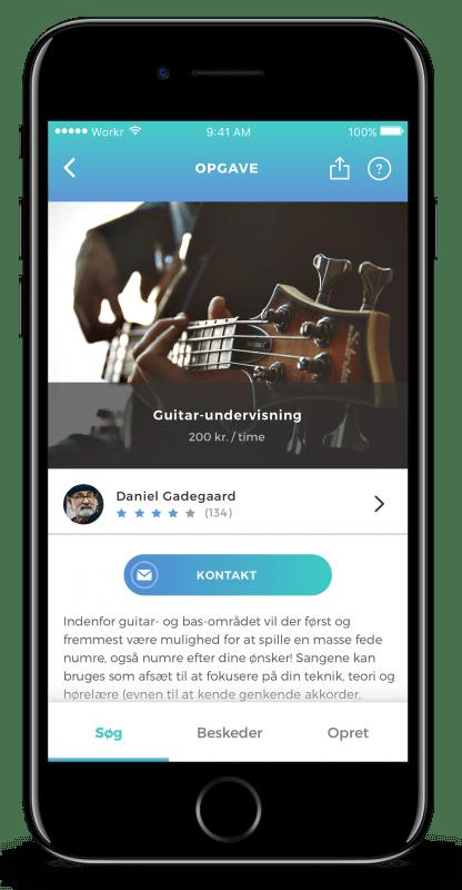Workr app - Hjælp til praktiske opgaver skærmbillede