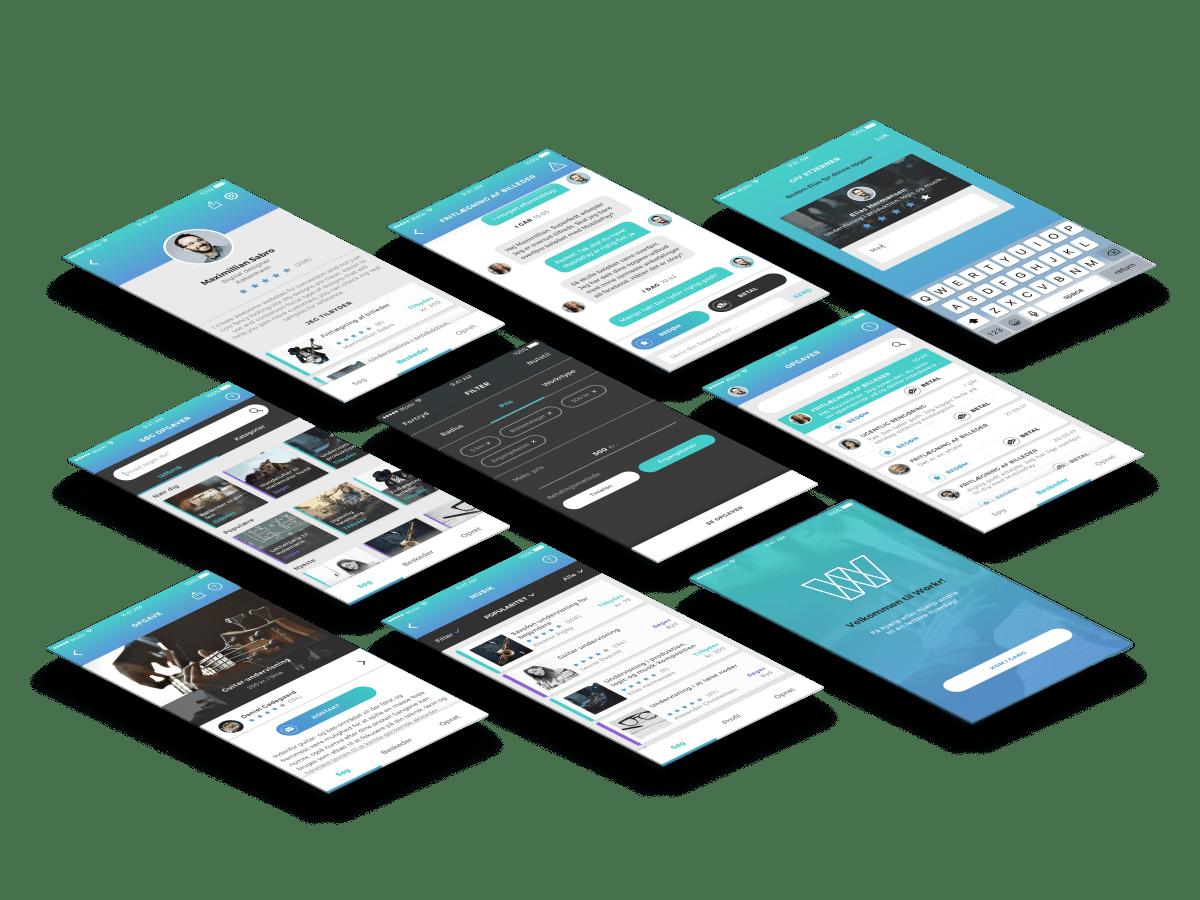 Workr app - Hjælp til praktiske opgaver cases