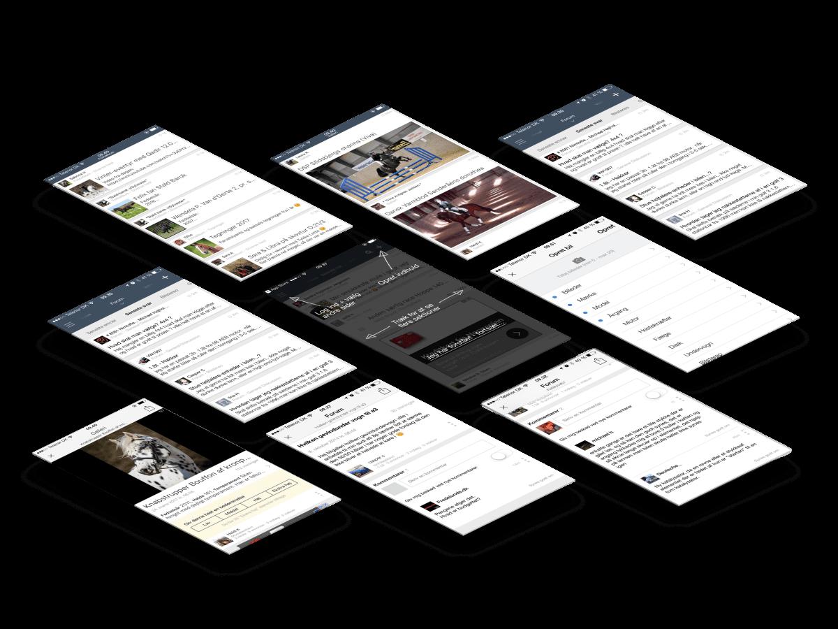 Bazoom app skærmbilleder case