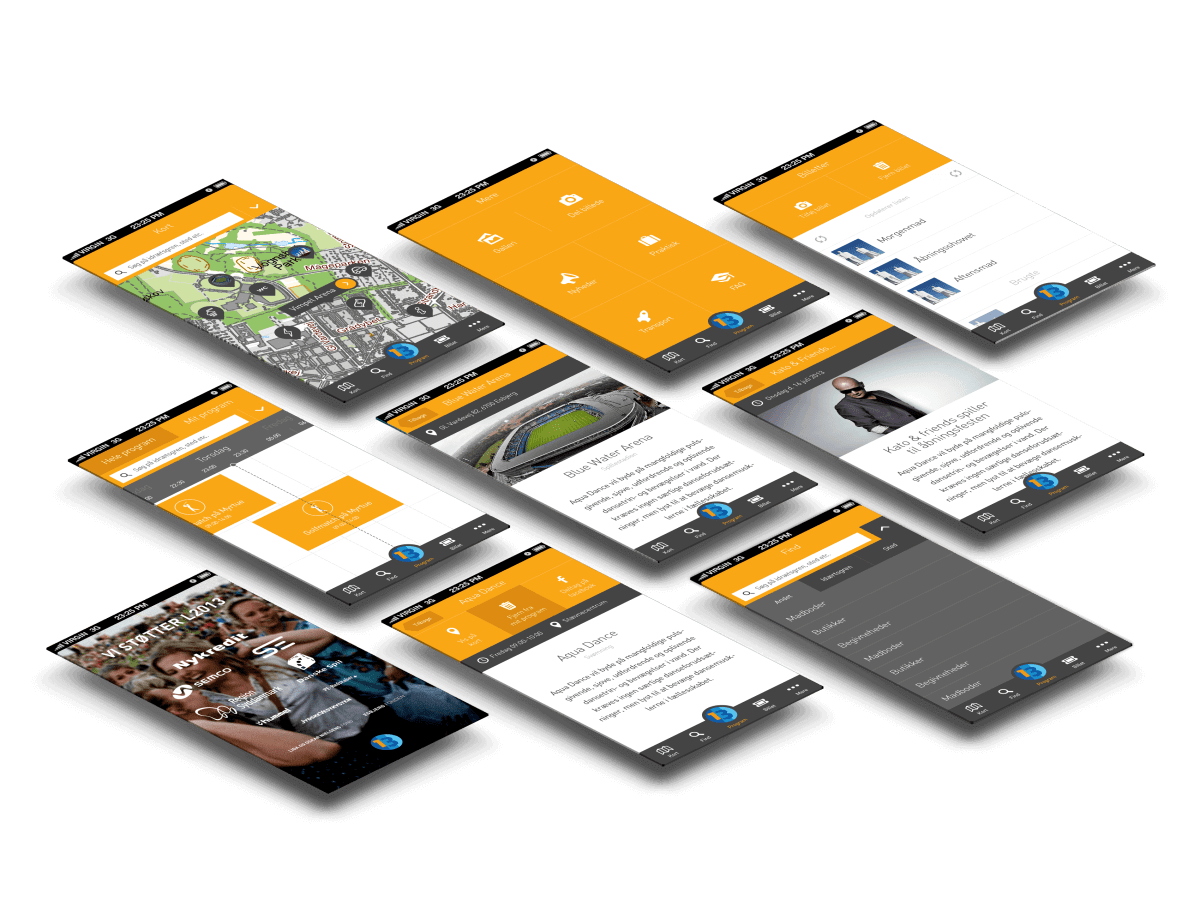 DGI Landsstævne app skærmbilleder case