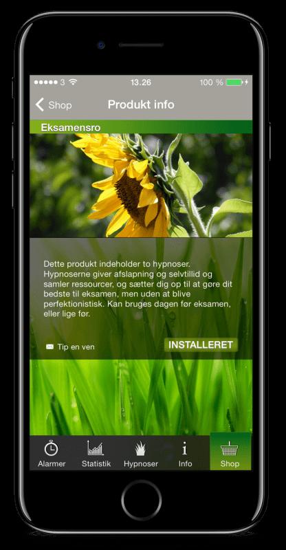 Eksamensro app skærmbilleder