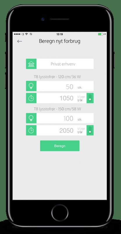 LEDpartner app skærmbillede