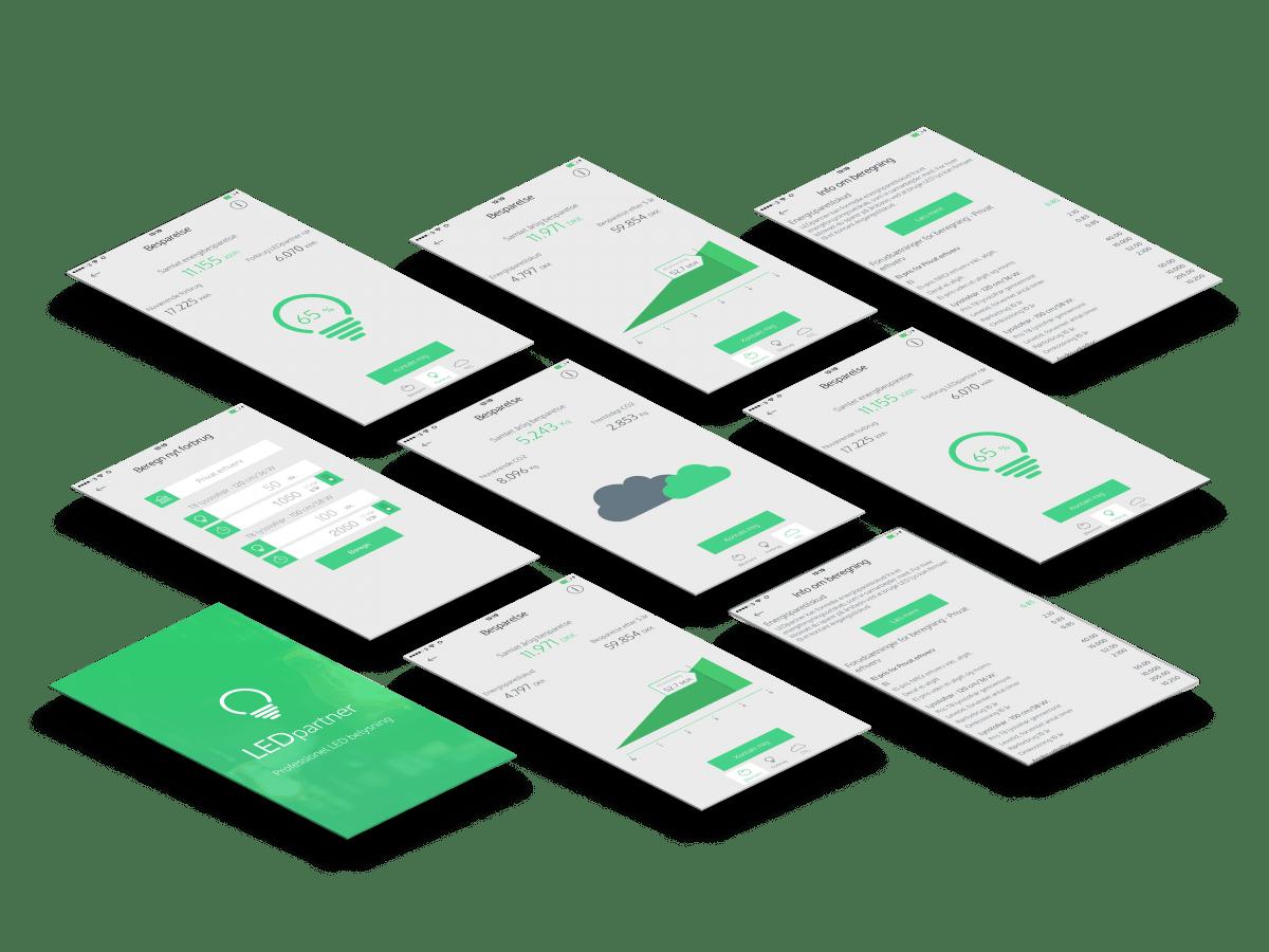 LEDpartner app skærmbilleder case