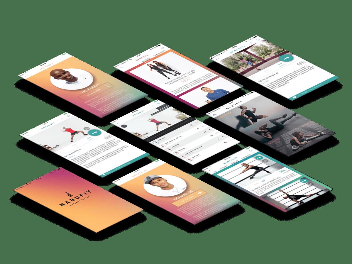 Nabufit app skærmbillede case