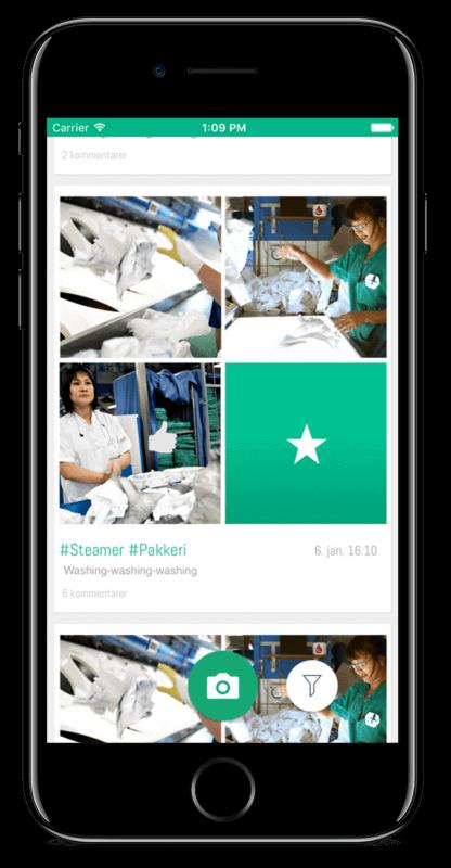 Safety first app skærmbillede