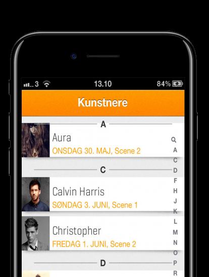 Skive Festival - app skærmbillede