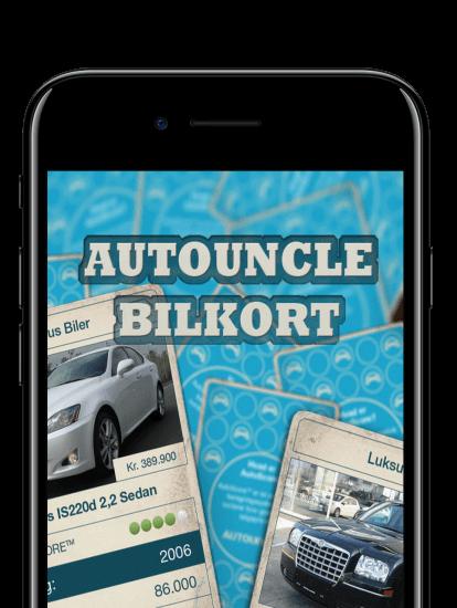 AutoUncle bilkort app skærmbillede