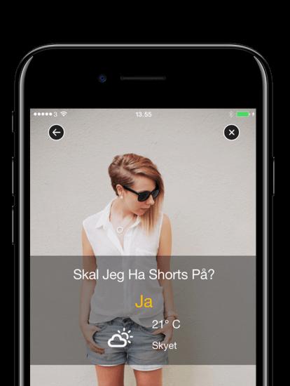 Shorts Vejr app skræmbillede
