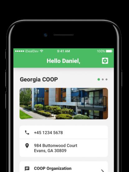 iCareCoops app skærmbilleder