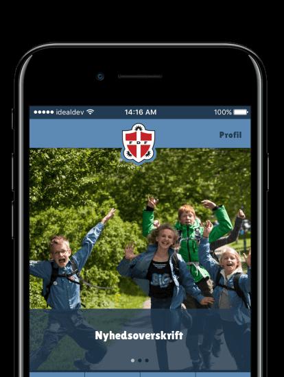 FDF app skærmbilleder