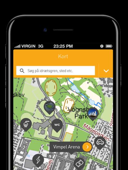 DGI Landsstævne app skærmbillede