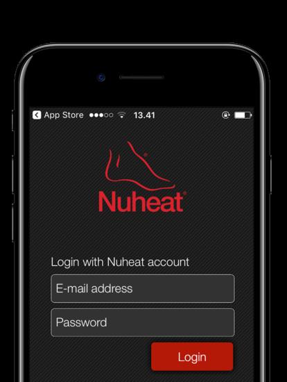 Nuheat Signature app skærmbilleder