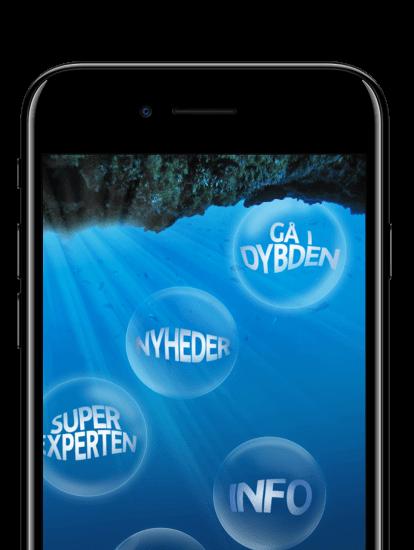 Den blå planet app skærmbillede