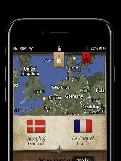 City Distance app skærmbillede
