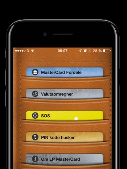 MasterCard Fordele app skærmbillede
