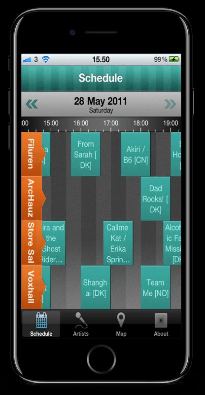 SPOT Festival app skærmbillede