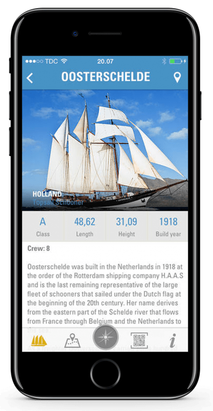 Tall Ships races app skærmbillede