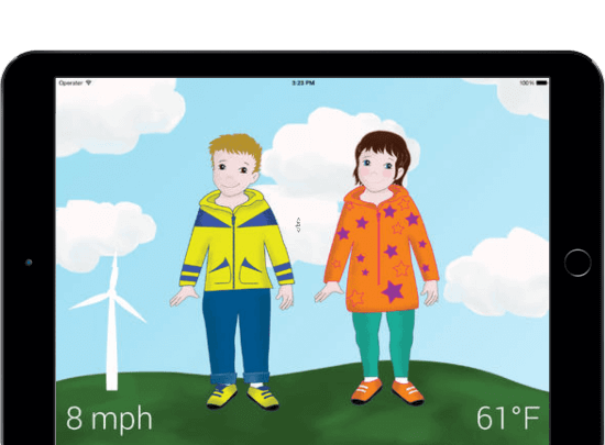 Weather Closet iPad Mockup Case Overview